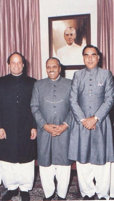 Manzoor Watto with Zia-ul-Haq and Nawaz Sharif