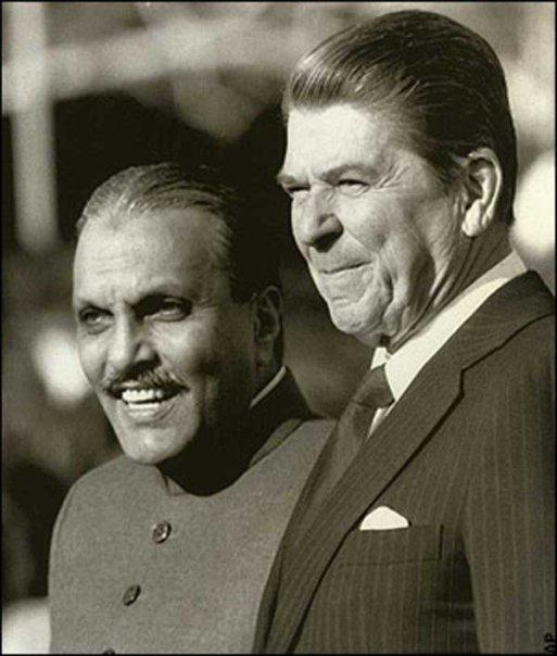 Zia Ul Haq with Ronald Reagan