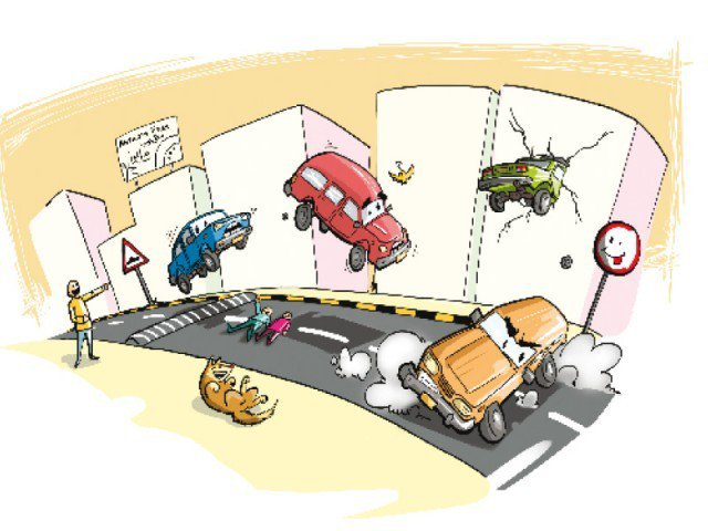 pakistan speed breaker cartoon