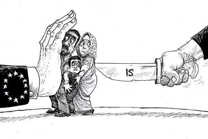 eu refugee islamic state cartoon