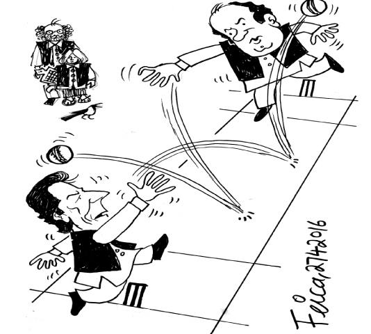 Imran Khan Nawaz Sharif cartoon